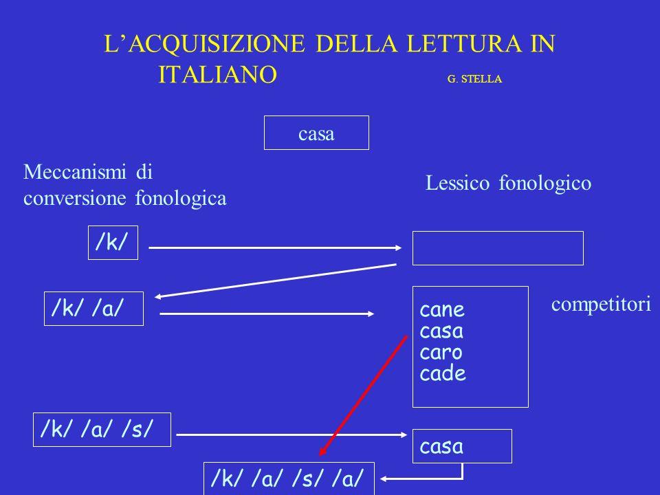 MODELLO DI LETTURA A 2 VIE matita STRATEGIA FONOLOGICA