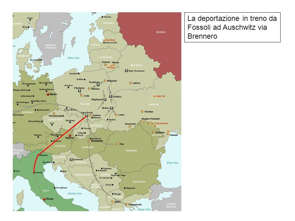 La deportazione in treno da Fossoli ad Auschwitz via Brennero