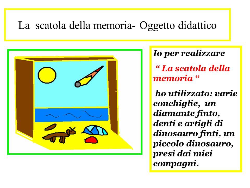 La scatola della memoria- Oggetto didattico Io per realizzare La scatola della memoria ho utilizzato: varie conchiglie, un diamante finto, denti e art
