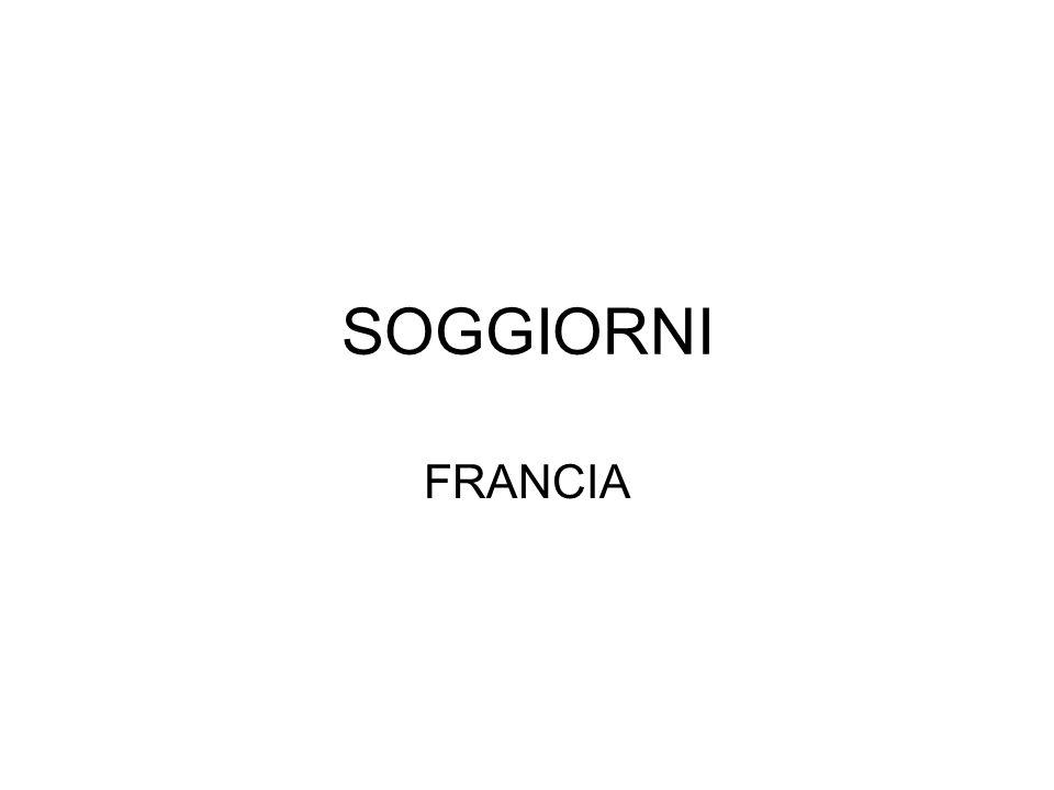 SOGGIORNI FRANCIA