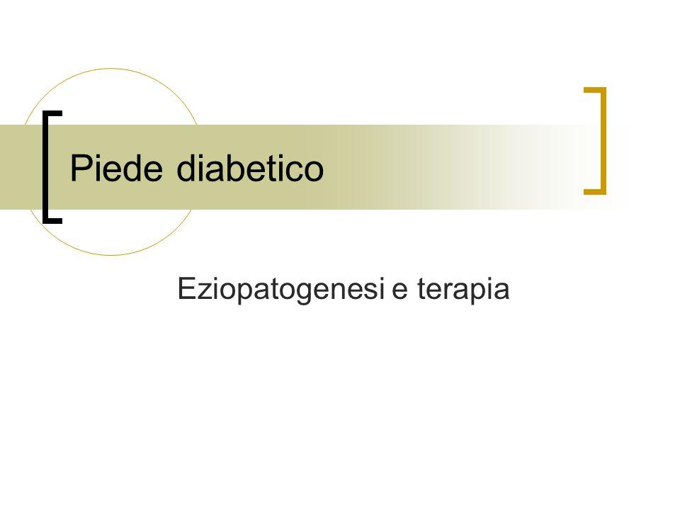 Vasculopatia La vasculopatia periferica predispone alla comparsa di ulcera e si associa a una incidenza di 2-4 volte più elevata di amputazioni Lindice ABI può risultare falsamente aumentato nei diabetici a causa della calcificazione dellintima