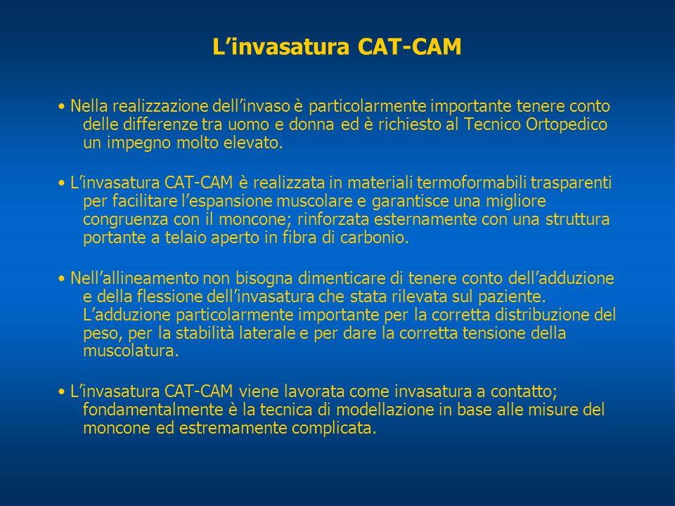 Linvasatura CAT-CAM Nella realizzazione dellinvaso è particolarmente importante tenere conto delle differenze tra uomo e donna ed è richiesto al Tecni