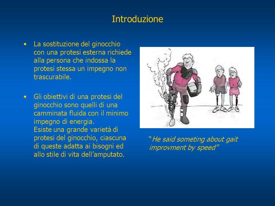 Introduzione La sostituzione del ginocchio con una protesi esterna richiede alla persona che indossa la protesi stessa un impegno non trascurabile. Gl