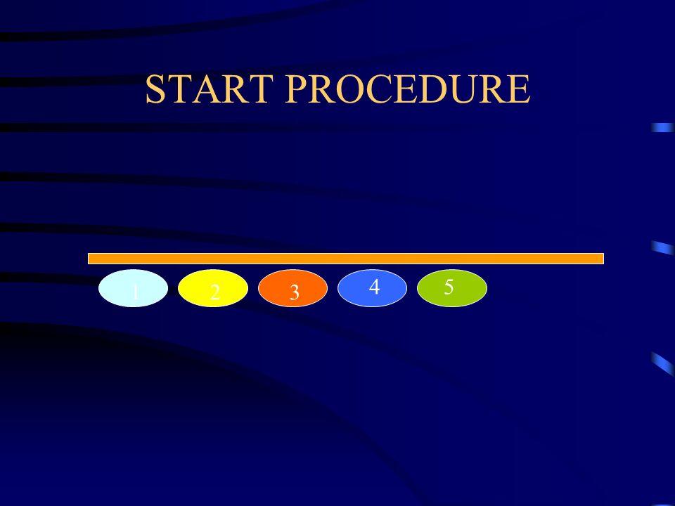 1 23 45 START PROCEDURE