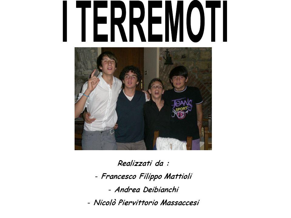 Realizzati da : - Francesco Filippo Mattioli - Andrea Deibianchi - Nicolò Piervittorio Massaccesi