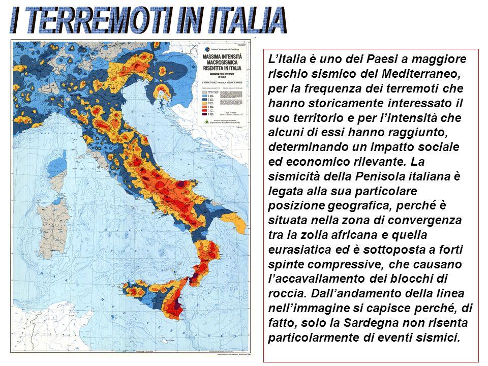LItalia è uno dei Paesi a maggiore rischio sismico del Mediterraneo, per la frequenza dei terremoti che hanno storicamente interessato il suo territor