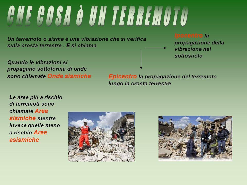 Un terremoto o sisma è una vibrazione che si verifica sulla crosta terrestre. E si chiama Ipocentro la propagazione della vibrazione nel sottosuolo Ep