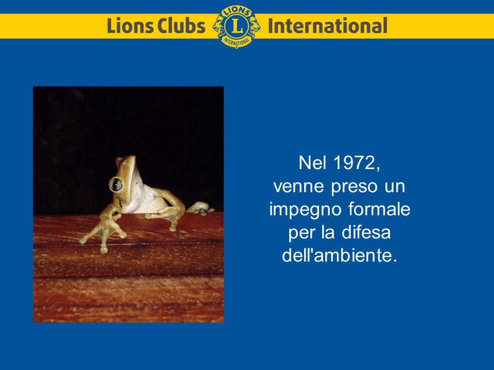Nel 1972, venne preso un impegno formale per la difesa dell ambiente.