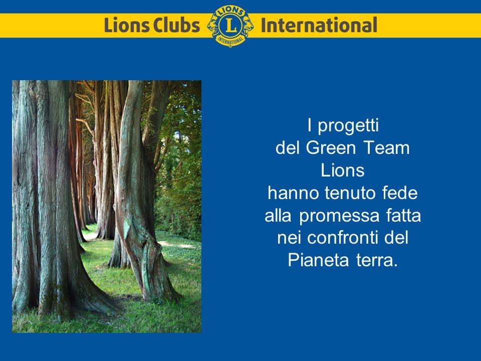 I progetti del Green Team Lions hanno tenuto fede alla promessa fatta nei confronti del Pianeta terra.