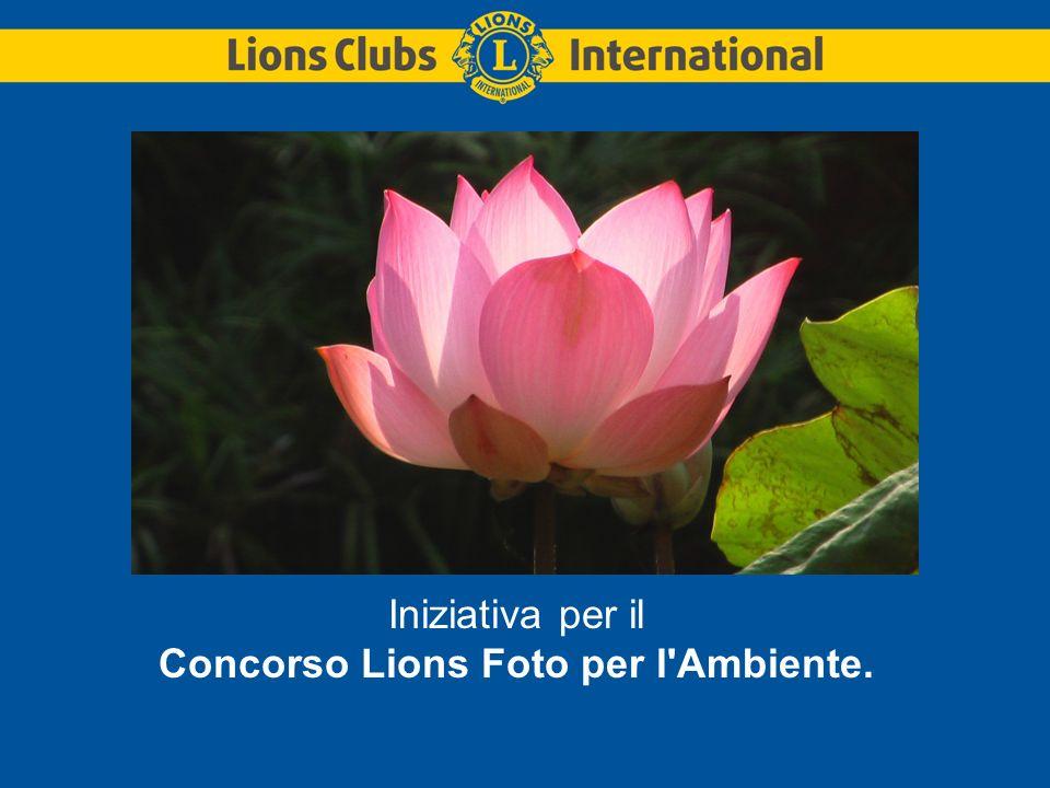 Iniziativa per il Concorso Lions Foto per l Ambiente.