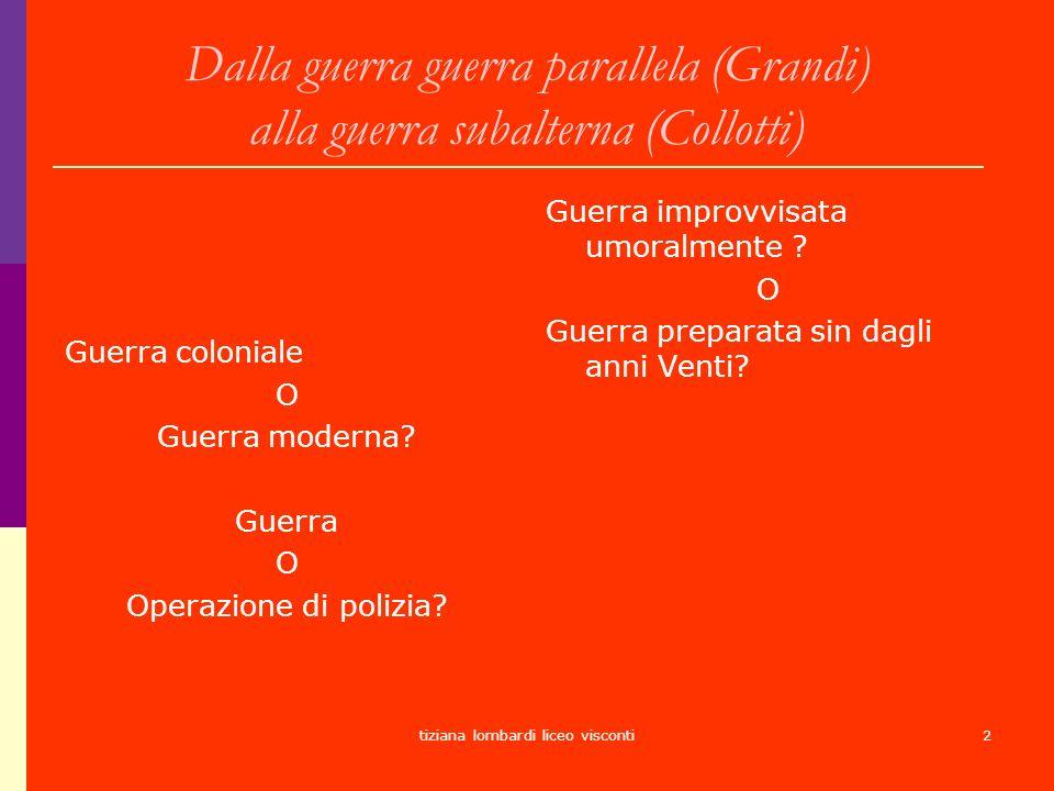 tiziana lombardi liceo visconti3 Lespansionismo italiano Tradizione prefascista e ripresa strumentale del movimento risorgimentale.