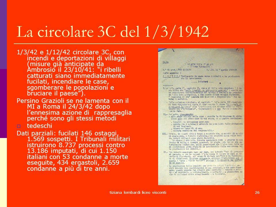 tiziana lombardi liceo visconti26 La circolare 3C del 1/3/1942 1/3/42 e 1/12/42 circolare 3C, con incendi e deportazioni di villaggi (misure già antic