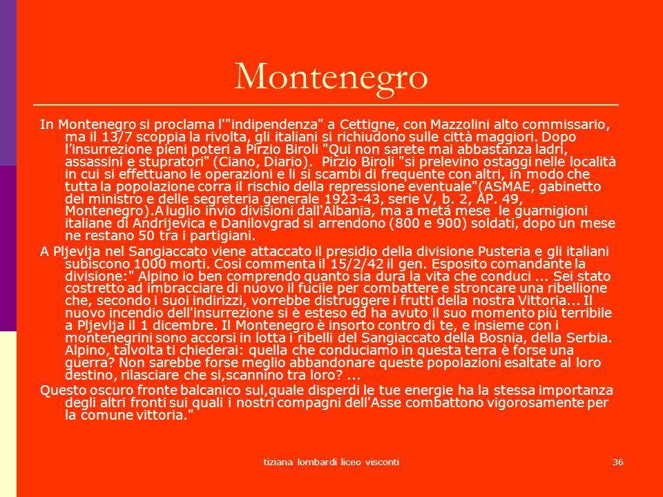tiziana lombardi liceo visconti36 Montenegro In Montenegro si proclama l'