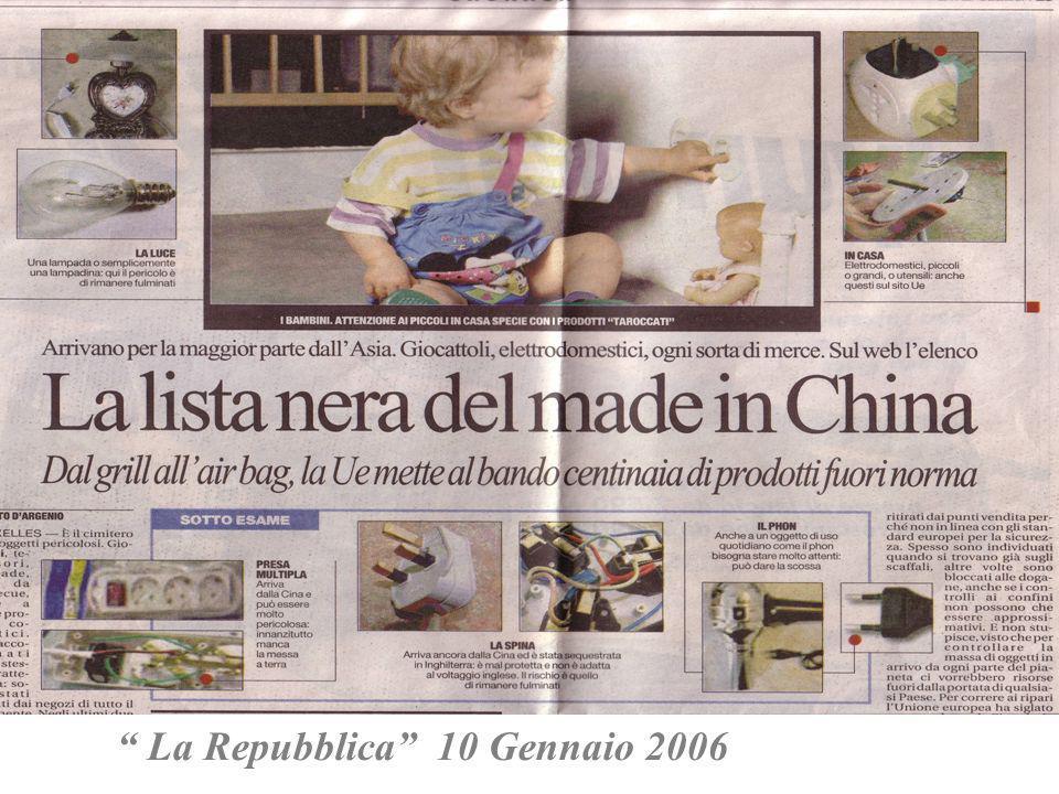 La Repubblica 10 Gennaio 2006