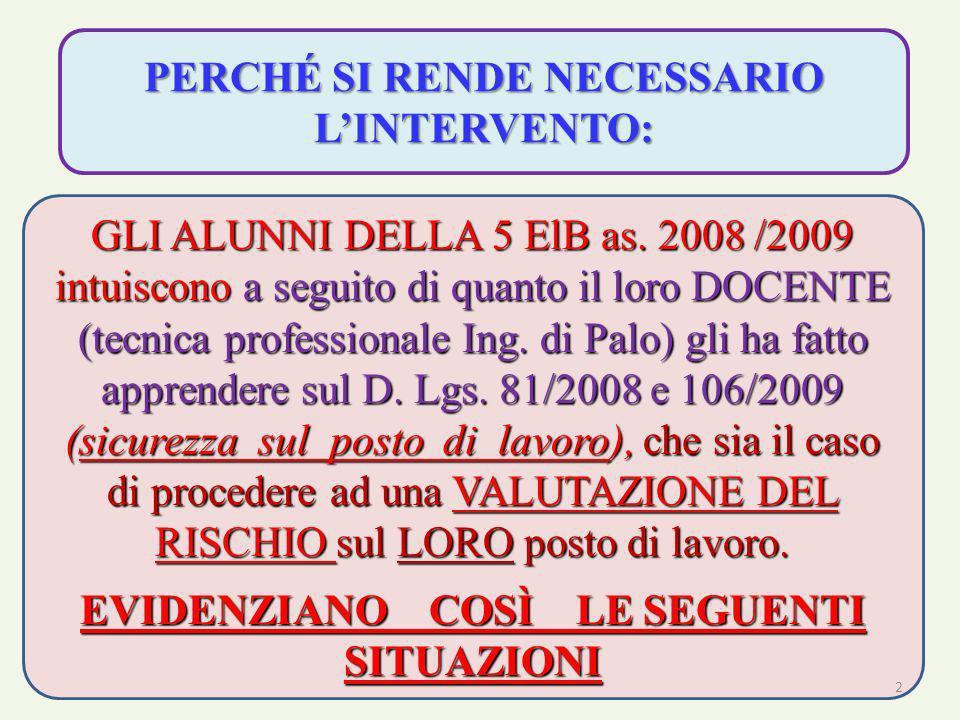 13 2) ATTUARE SOLUZIONI PROGETTUALI R RIDEFINIRE LE POSTAZIONI DI LAVORO DAL PUNTO DI VISTA ERGONOMICO; ECUPERARE (o RICICLARE) MATERIALE AMMALORATO / OBSOLETO (nel contesto della direttiva REA 2002/96/CE e 2002/96/CE (Direttiva ROHS) FORMULARE e COMMENTARE SOLUZIONI TECNICO AMMINISTRATIVE COERENTI CON I TRE FATTORI FONDAMENTALI: S SICUREZZA C CONTINUITÀ DI SERVIZIO ECONOMIA