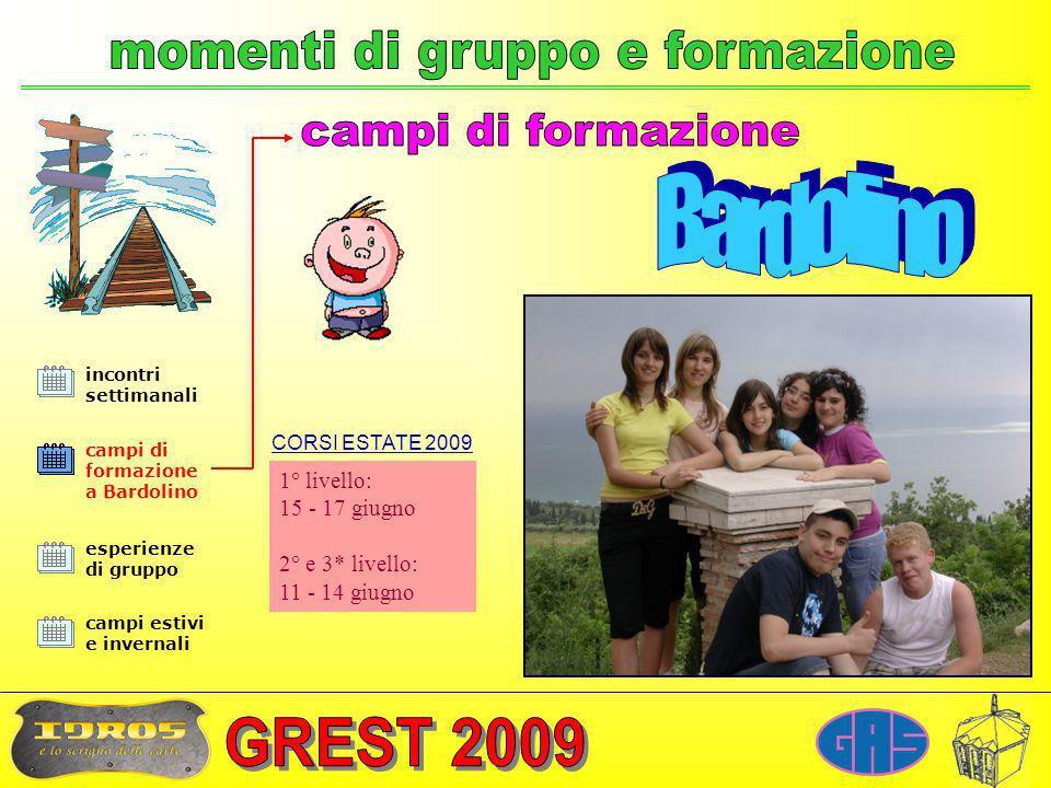 incontri settimanali campi di formazione a Bardolino esperienze di gruppo campi estivi e invernali