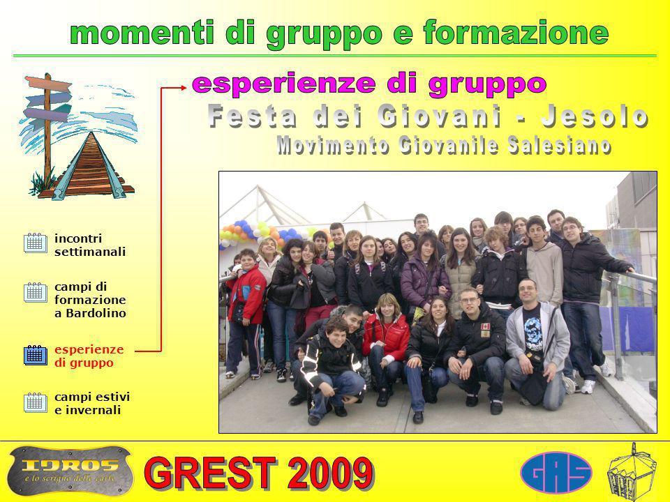 incontri settimanali campi di formazione a Bardolino campi estivi e invernali Valdocco (TO), Gennaio 2009 esperienze di gruppo