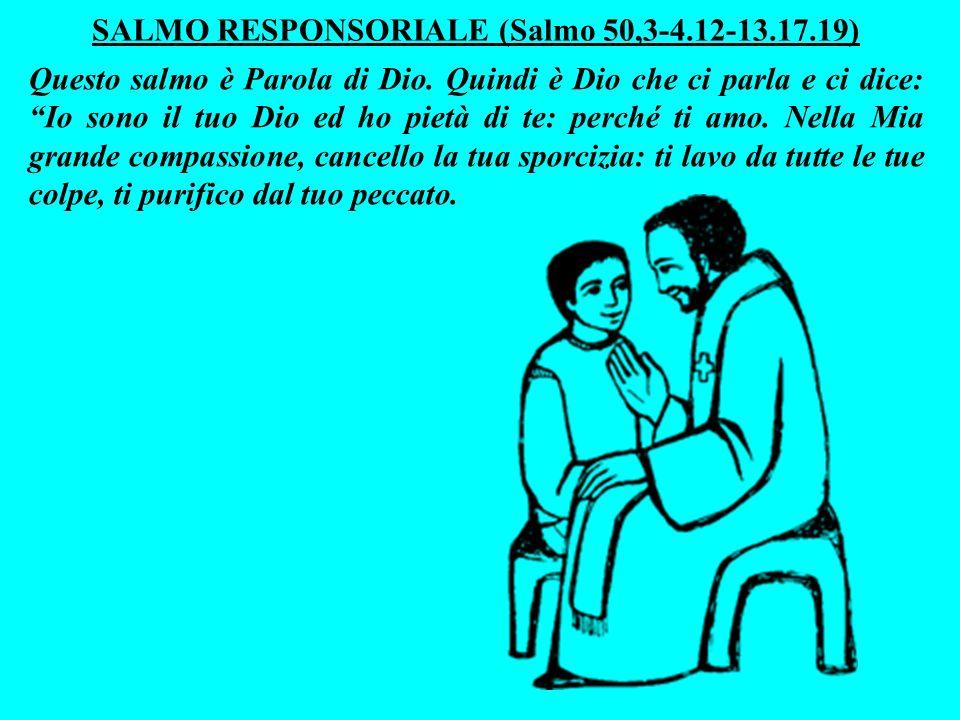 Proprio come feci con Mosè allora, mi lascerò commuovere dalla tua preghiera umile.