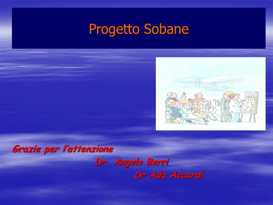 Grazie per lattenzione Dr Angelo Berri Dr Angelo Berri Dr Ada Accardi Dr Ada Accardi Progetto Sobane