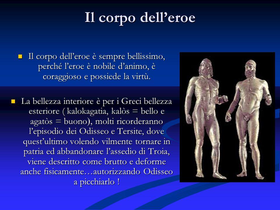 Il corpo delleroe Il corpo delleroe è sempre bellissimo, perché leroe è nobile danimo, è coraggioso e possiede la virtù.
