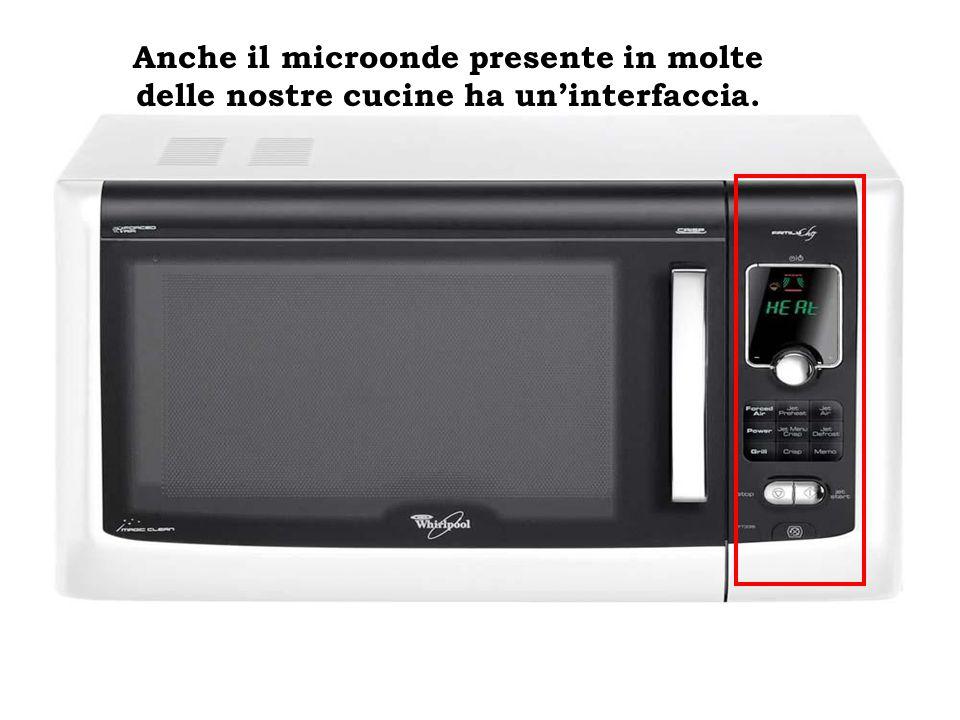 Anche il microonde presente in molte delle nostre cucine ha uninterfaccia.