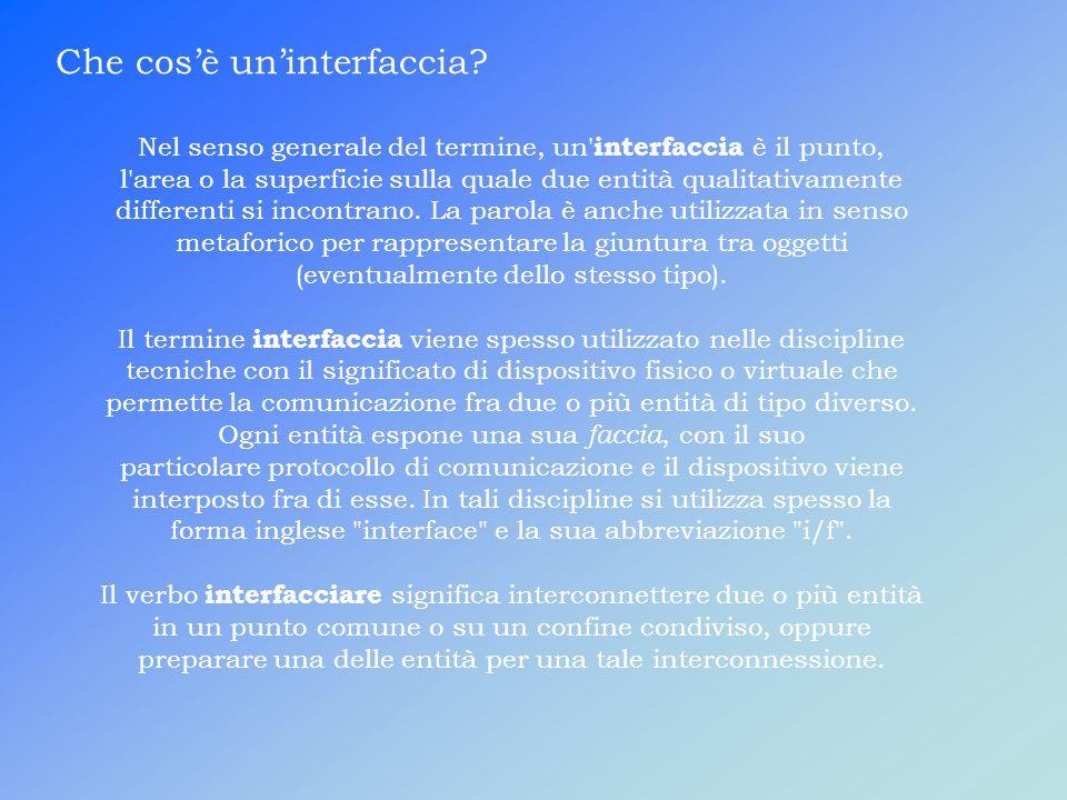 F.Inoltre molti siti web sono delle interfaccia.