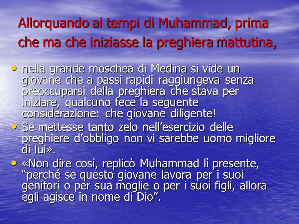 Allorquando ai tempi di Muhammad, prima che ma che iniziasse la preghiera mattutina, nella grande moschea di Medina si vide un giovane che a passi rap