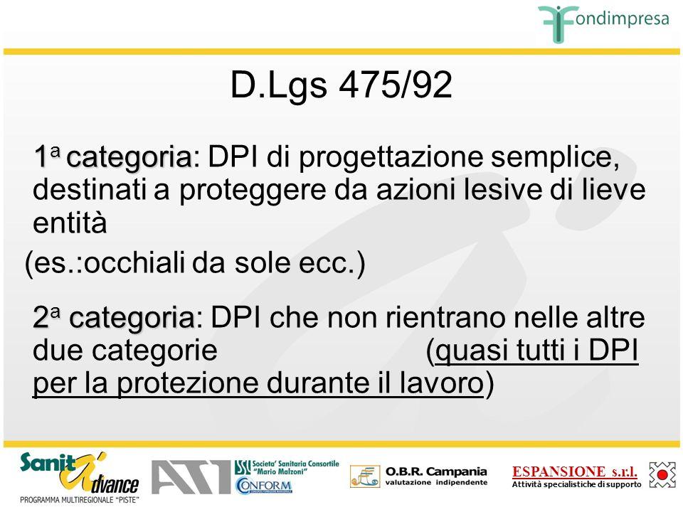 ESPANSIONE s.r.l.Attività specialistiche di supporto D.Lgs 475/92 (S.O.