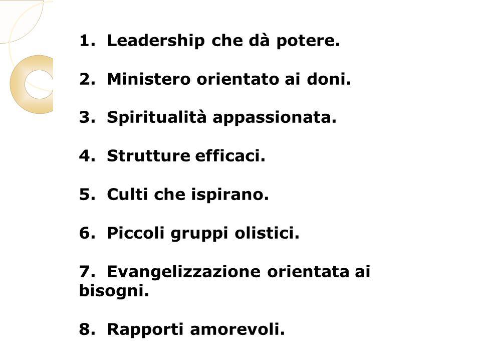 1. Leadership che dà potere. 2. Ministero orientato ai doni.
