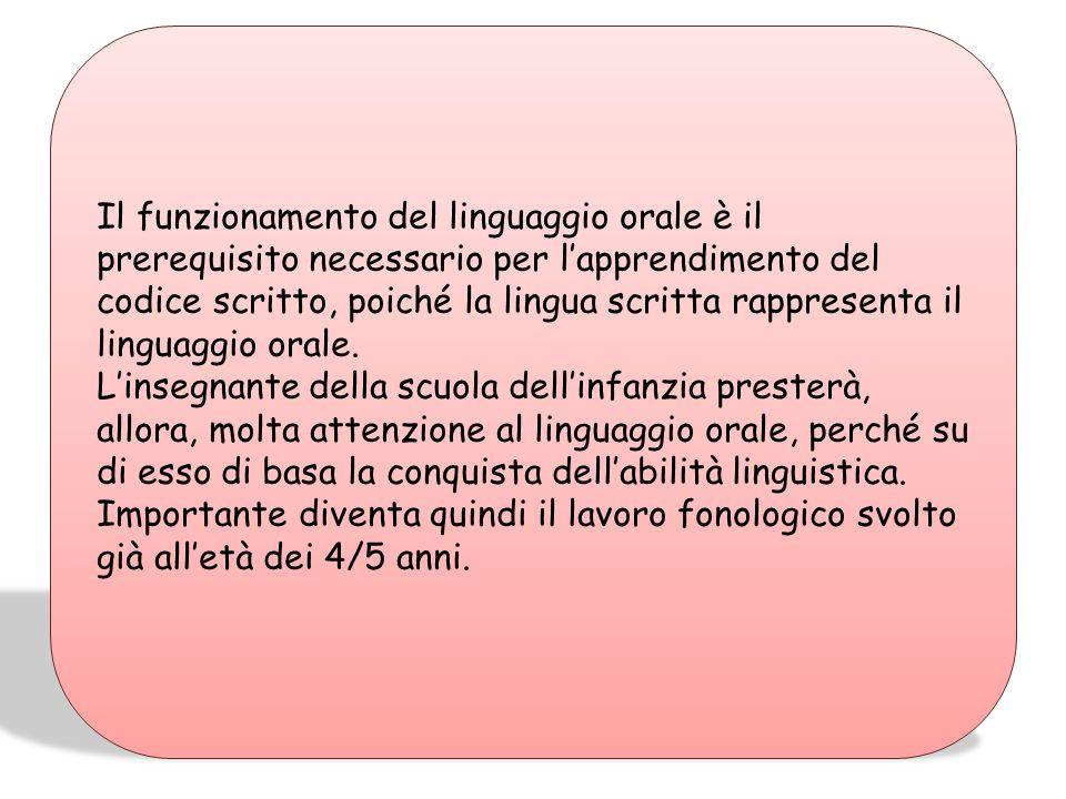 LA SCRITTURA: lapprendimento della lingua scritta non è legato ad un fattore cronologico bensì alle specifiche esperienze pregresse del bambino ed all