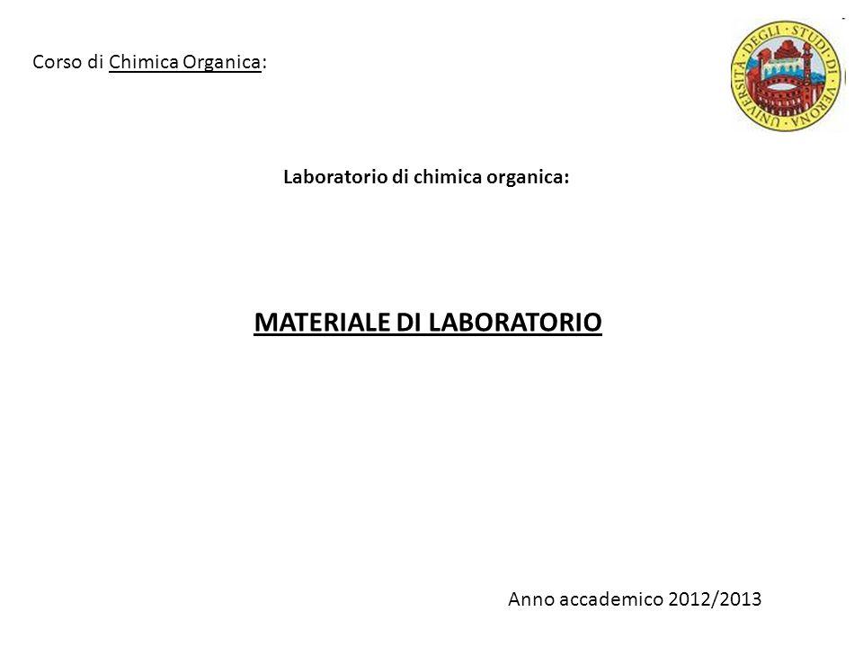 Laboratorio di chimica organica: VETRERIA Cilindro graduato Becher Beuta Pallone Beuta codata