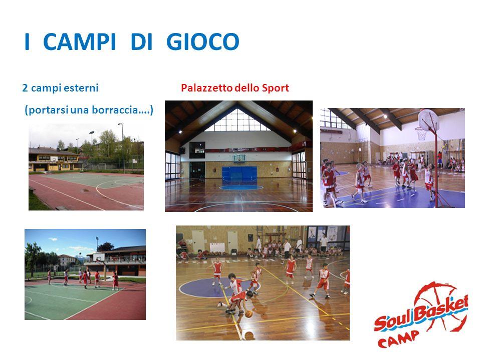 I CAMPI DI GIOCO Palazzetto dello Sport2 campi esterni (portarsi una borraccia….)
