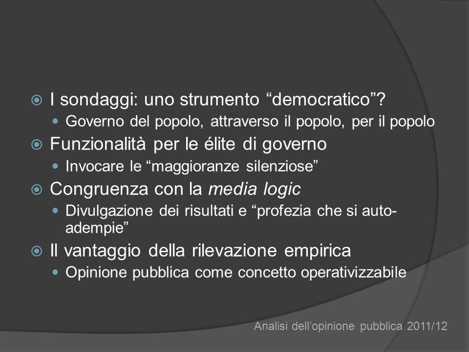 I sondaggi: uno strumento democratico.