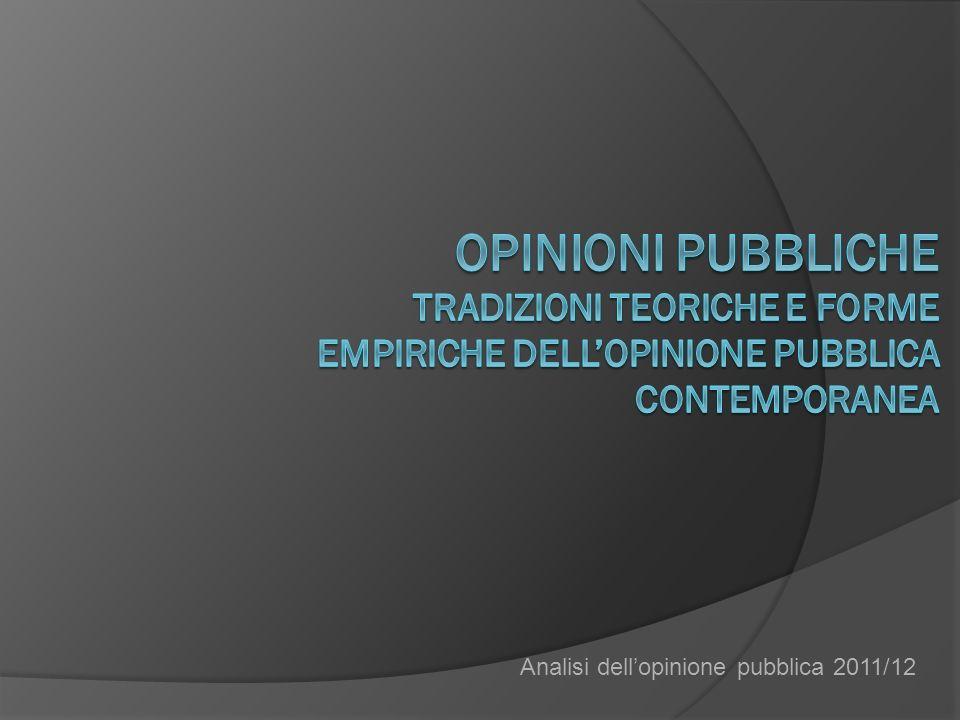 Analisi dellopinione pubblica 2011/12