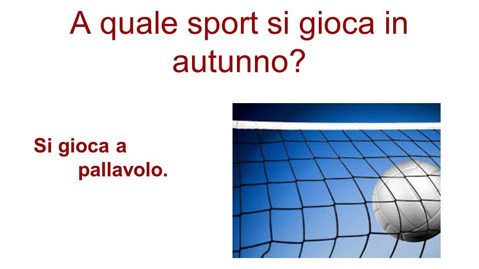 A quale sport si gioca in autunno? Si gioca a pallavolo.