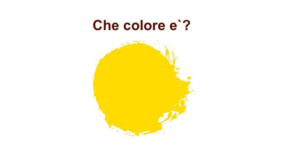 Che colore e`?