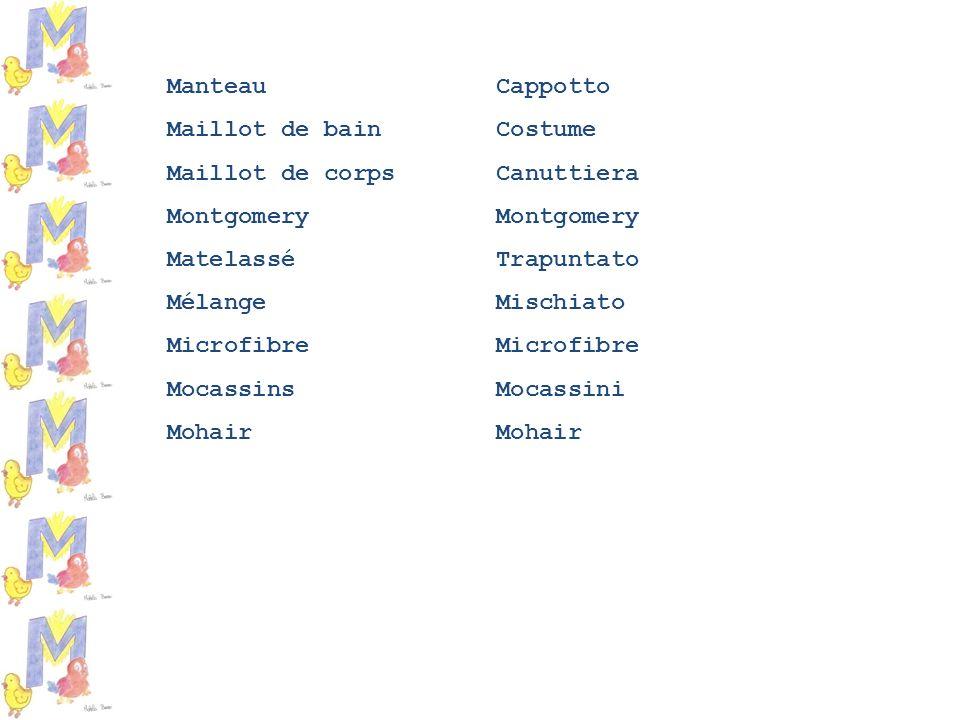 Manteau Cappotto Maillot de bain Costume Maillot de corps Canuttiera Montgomery Matelassé Trapuntato Mélange Mischiato Microfibre Mocassins Mocassini