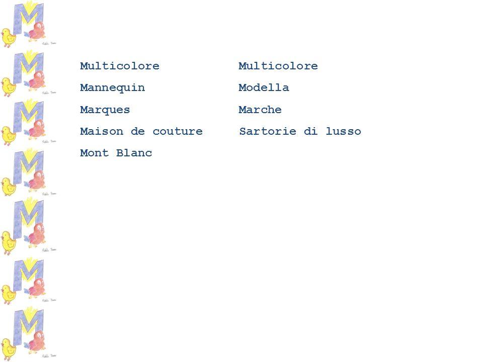 Multicolore Mannequin Modella Marques Marche Maison de couture Sartorie di lusso Mont Blanc
