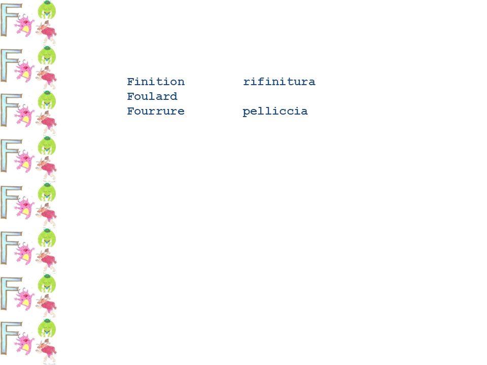 Finition rifinitura Foulard Fourrure pelliccia
