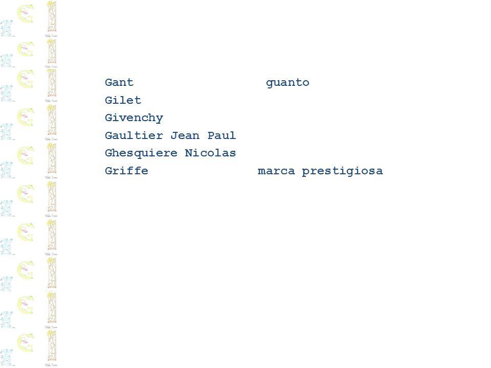 Gant guanto Gilet Givenchy Gaultier Jean Paul Ghesquiere Nicolas Griffe marca prestigiosa