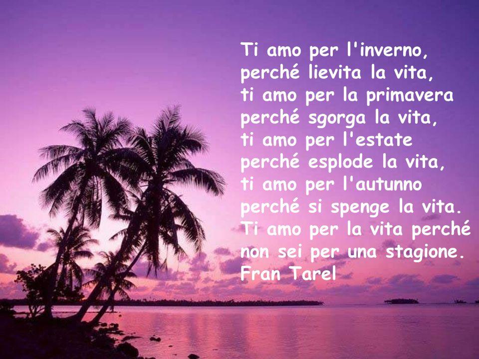 Aspetto te come la chiave che apre la prigione Credo in te come il sole che sorge domani Amo te come la primavera che porta la vita Vivo per te come un fiume che scorre al mare Fran Tarel