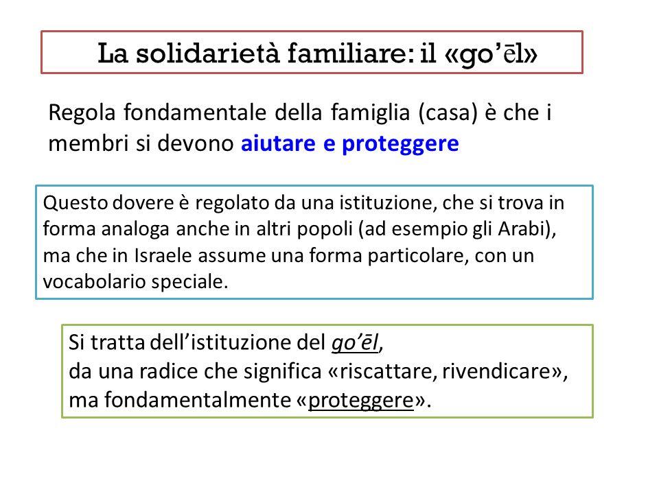 La solidarietà familiare: il «go ē l» Regola fondamentale della famiglia (casa) è che i membri si devono aiutare e proteggere Questo dovere è regolato