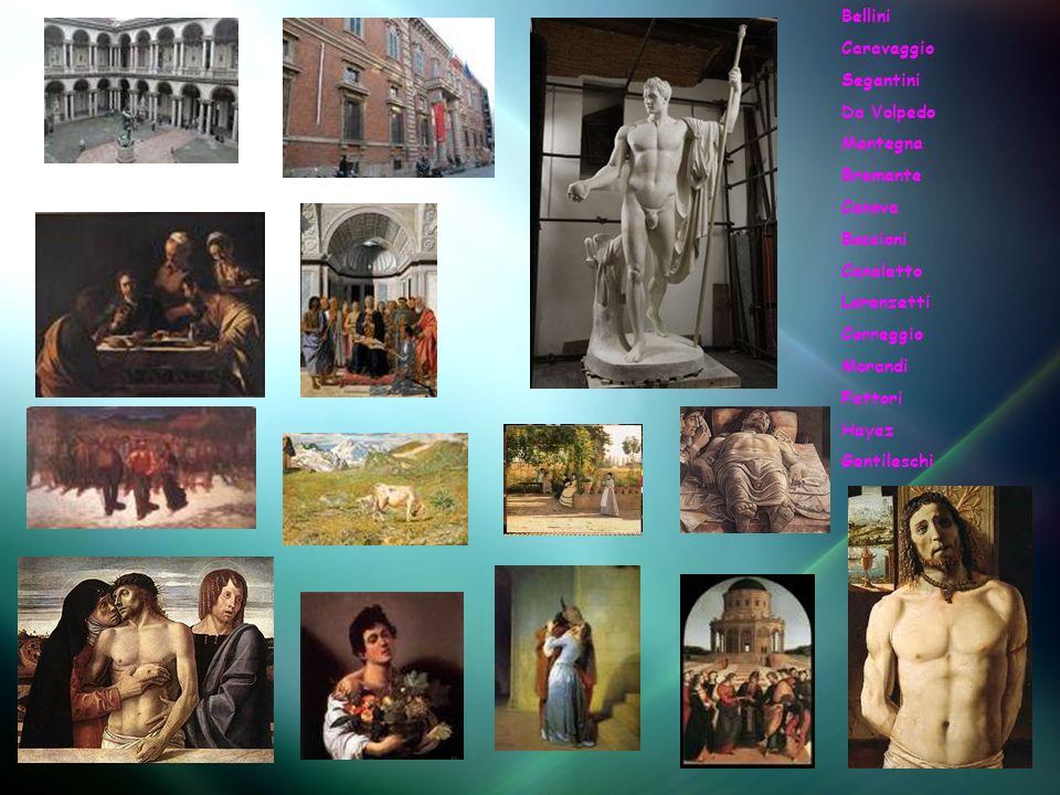 Bellini Caravaggio Segantini Da Volpedo Mantegna Bramante Canova Boccioni Canaletto Lorenzetti Correggio Morandi Fattori Hayez Gentileschi