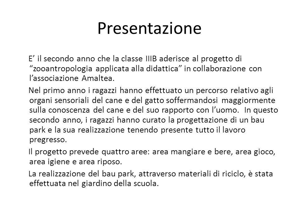 Presentazione E il secondo anno che la classe IIIB aderisce al progetto di zooantropologia applicata alla didattica in collaborazione con lassociazion