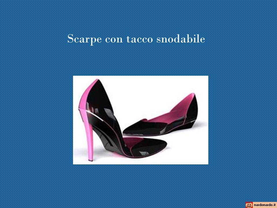 Scarpe con tacco snodabile