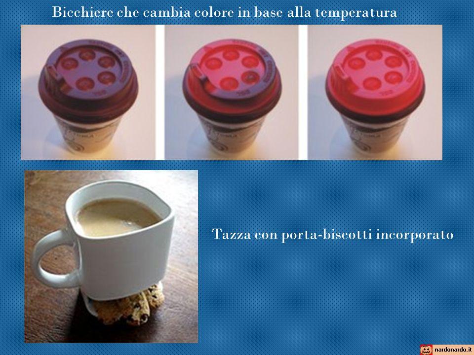 Bicchiere che cambia colore in base alla temperatura Tazza con porta-biscotti incorporato