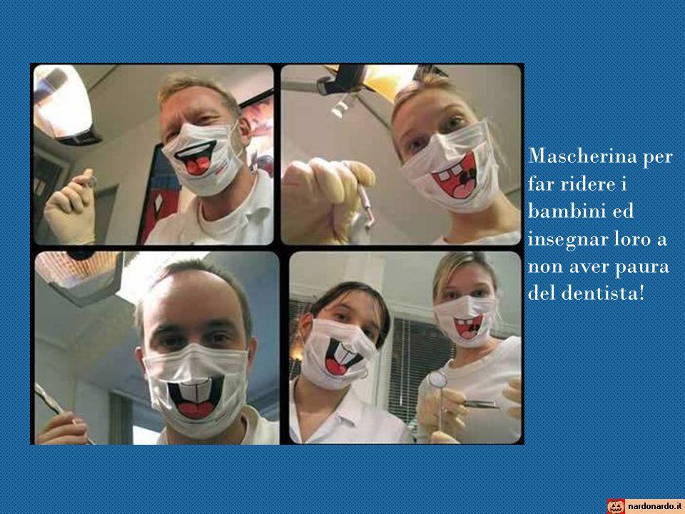 Mascherina per far ridere i bambini ed insegnar loro a non aver paura del dentista!