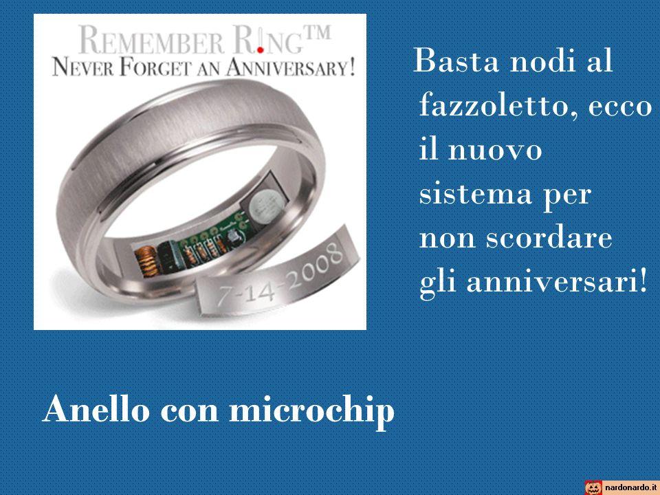 Anello con microchip Basta nodi al fazzoletto, ecco il nuovo sistema per non scordare gli anniversari!