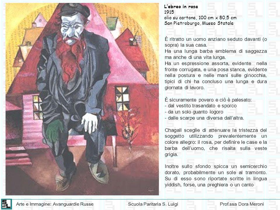 Arte e Immagine: Avanguardie RusseScuola Paritaria S. LuigiProf.ssa Dora Meroni Lebreo in rosa 1915 olio su cartone, 100 cm x 80,5 cm San Pietroburgo,