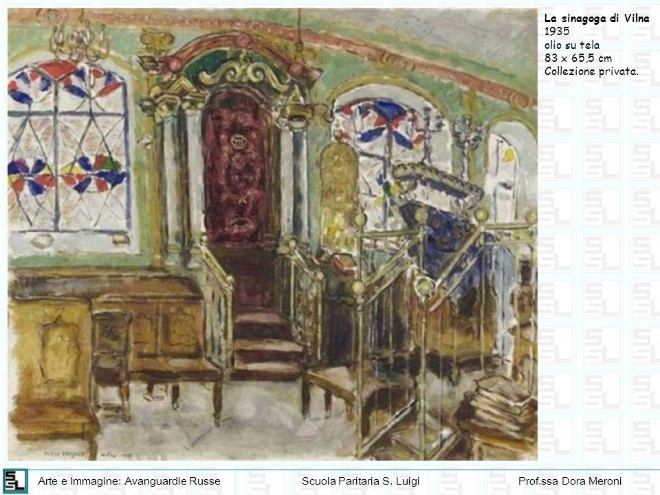 Arte e Immagine: Avanguardie RusseScuola Paritaria S. LuigiProf.ssa Dora Meroni La sinagoga di Vilna 1935 olio su tela 83 x 65,5 cm Collezione privata